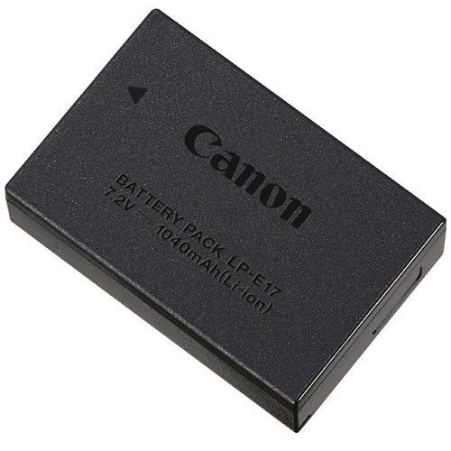 Canon LC-E17 Charger and LP-E17 Battery Pack *9968B001* EOS Rebel T6i or T6s Cam