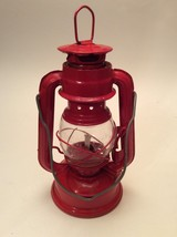 Small Red Paraffin Lantern 8 Inches Tall - $12.86