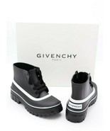 NIB Givenchy Paris Glaston Laced Black Ankle Rain Boots New 6 36 - $325.00