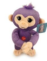 Plush Baby Monkey 10 in w/ Sound Bendable Arms & Legs Purple Glitter - $14.35