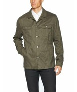 Calvin Klein Mens Slim-Fit Military Button Down Shirt Jacket Small S Green - $44.95