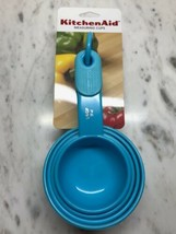 TURQUOISE 4 PC KITCHENAID MEASURING CUP SET - $12.00