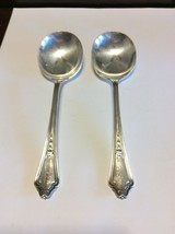 Gorham Shelburne 1914 Silverplate Round Soup/Gumbo Spoons Lot Of 2 No Mo... - $24.00