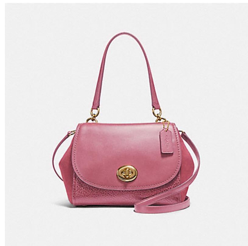 62421e554433 S l1600. S l1600. COACH FAYE CARRYALL F22348 satchel rouge pink shoulder bag  crossbody