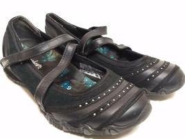 Skechers Relaxed Fit Womens Size 6 Black Mary Janes Slides Loafers Sneak... - $30.84