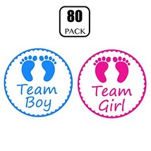 Gender Reveal Stickers - PojoTech Team Boy and Team Girl Baby Shower Sti... - $12.49