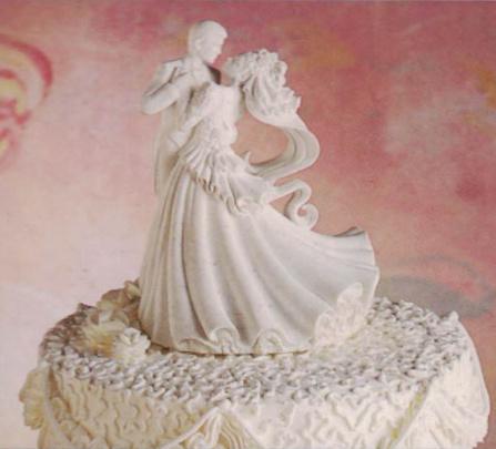 Interlocking Bear Hug Cute Romantic Fun Wedding Cake Topper