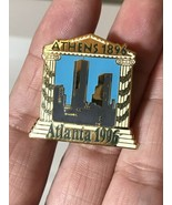 ATLANTA 1996 Olympic Collectible Logo Pin - Athens 1896 to Atlanta 1996 ... - $9.89
