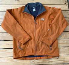 The North face Men's Full zip Soft shell jacket Size M Orange - $28.70