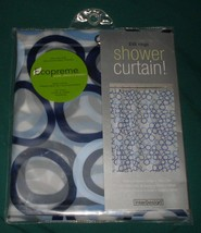 Interdesign Ringo Shower Curtain Ecopreme 100% PEVA 72x72 Circles - $16.99