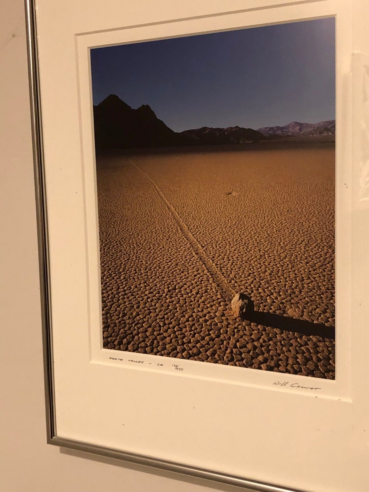 "Primary image for Will Connor Signed Photograph ""Moving Rock"" Death Valley CA  Limited Ed, Framed"
