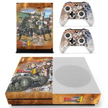 Valkyria Chronicles 4 decal xbox one S console and 2 controllers - $15.00