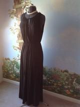 Rolla Coster  Women Sleeveless Sheath Black Long Dress Size Medium New  - $34.64
