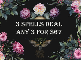 DISCOUNTS TO $67 3 SPELL DEAL PICK ANY 3 FOR $67 DEAL BEST OFFERSMAGICK  - $134.00