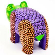 "Handmade Alebrijes Oaxacan Copal Wood Carving Painted Folk Art Bear 4.75"" Figure image 3"