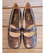 Life Stride Size 8 Women's Shoes Mary Jane Loafers Dandy Croc Print Brow... - $20.18