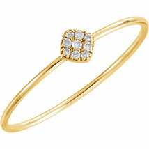 Diamond Petite Square Promise Ring In 14K Yellow Gold (1/8 ct. tw.) - $227.69