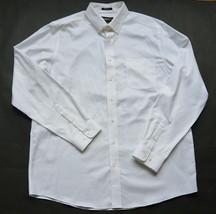 Eddie Bauer Oxford Antiarrugas Camisa Relaxed Fit XL Alto Algodón Blanco... - $39.77
