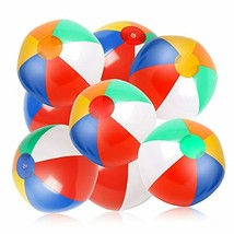 "Inflatable Pool Beach Balls 10 Pack 12"" Rainbow Pool Toys  - $15.41"