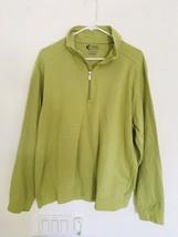 IZOD XFG X-Treme Function Golf Green 1/4 Zip Pullover Textured Checks Me... - $19.00