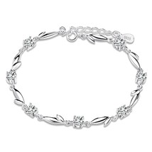 ORSA JEWELS Silver Bracelet with Shiny Crystal 2019 New Fashion CZ Women Bracele - $10.69