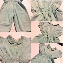 Vintage Blue Corduroy Jumpsuit Snaps Bric Brac Pantsuit Zipper   SKU 021-96 - $13.99