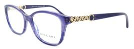 BVLGARI 4109 5365 Women's Eyeglasses Frames 52-16-140 Opal Striped Blue ITALY - $118.60