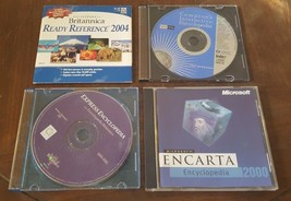 Lot of 4 ENCYCLOPEDIA School Educational Computer Software CDROMs - $10.76
