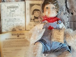 """Edwin Knowles """"Andy The Engineer"""" Yesterday's Dreams 14"""" Doll W Box and CoA - $28.84"""