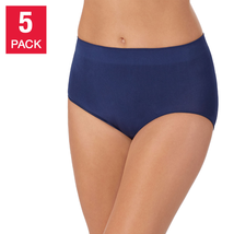 5 Pack Carole Hochman Women's Seamless Brief Full Coverage Panties Under... - $16.90