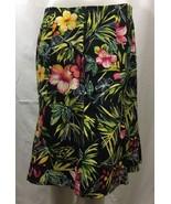 Women's Versailles Hawaiian Floral Skirt Size 10 Knee Length - $23.94