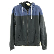 Threads 4 Thought Mens Hoodie Fleece Lined Full Zip Color Block Blue Bla... - $29.02