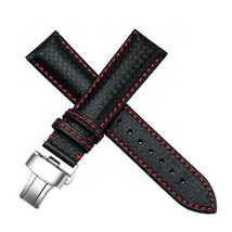 20mm Carbon Fiber Leather Watch Strap Bands Made For Tag Heuer Carrera CV201AP - $37.39