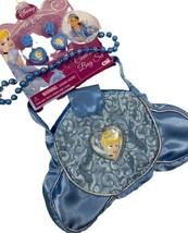 Cinderella Disney Bag Set Blue Beaded Princess Purse New - $14.84