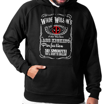 Pullover Hoodie Vintage Wade Wilson's Ass Kicking Whiskey Fan Inspired H... - $28.90+