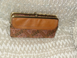 Hobo International Lauren Leather Clutch ~ GINGER - $89.84