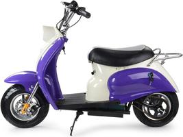 MotoTec 24v Electric Moped Purple Scooter Kid's 13+ Yrs 15 MPH image 3