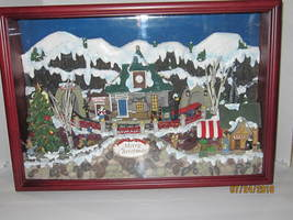 Fiber Optic Musical Christmas Village Shadow Box - $79.99