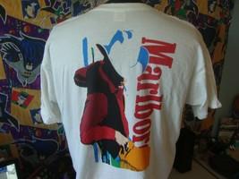 Vintage 90's Marlboro Cigarettes Cowboy Japanese T Shirt XL  - $49.49