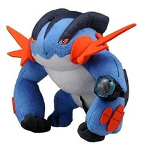 NEW Pokemon soft figure Sound Plush mega Swampert Takara Tomy from Japan - $39.43