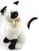"After Eight Cameo Siamese Stuffed Plush Cat Applause 1986 Blue Eyes 16"" ... - $26.99"