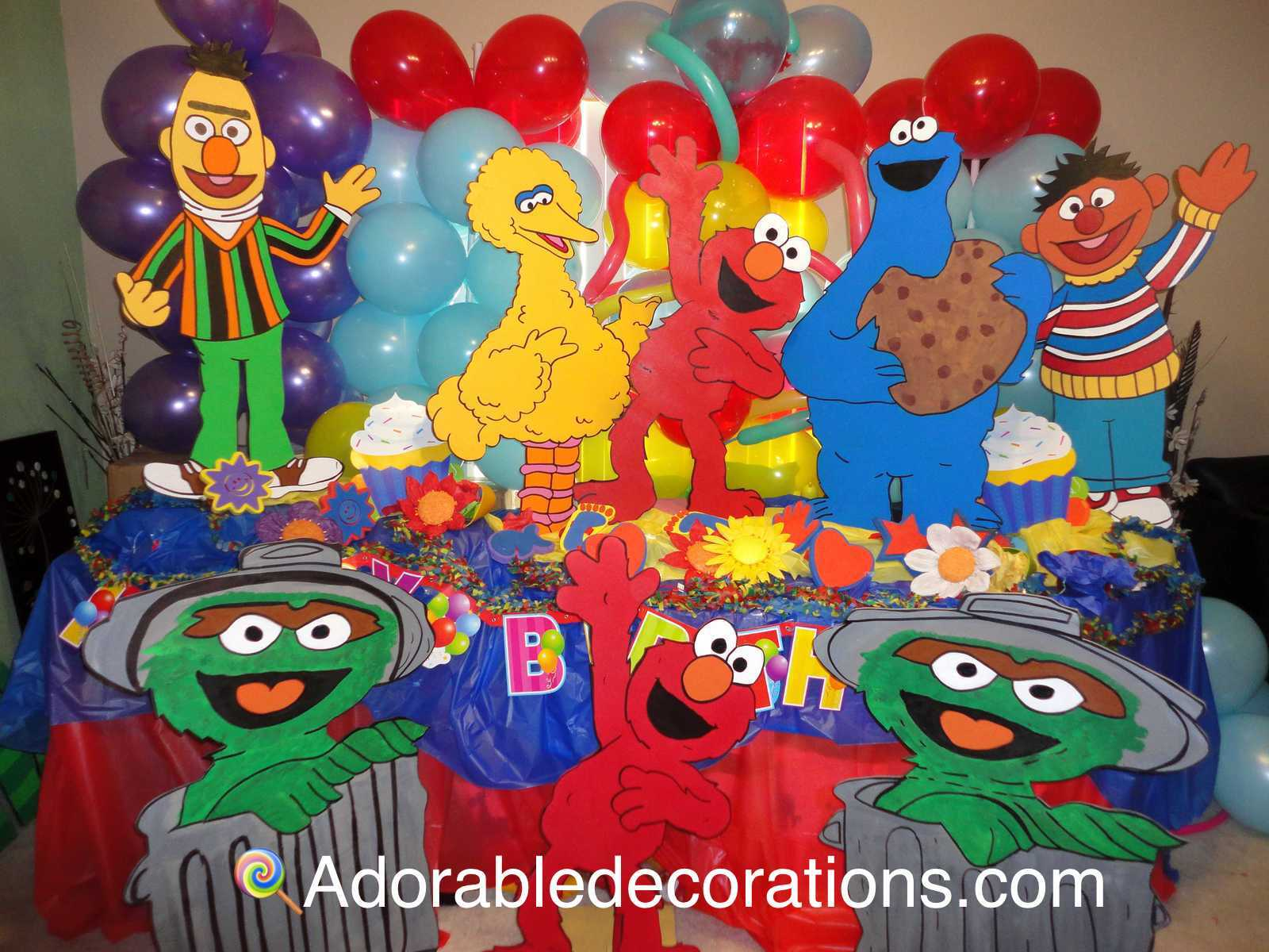 Sesame Street Wood Standee   3  feet Birthday Decorations Room   Photo Props