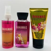Bath & Body Works Bahamas Passionfruit Banana Flower Mist Shower Gel & C... - $19.79