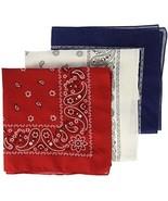 Levi's Men's Printed Bandana Set,Red, White, Blue,One Size - $20.39