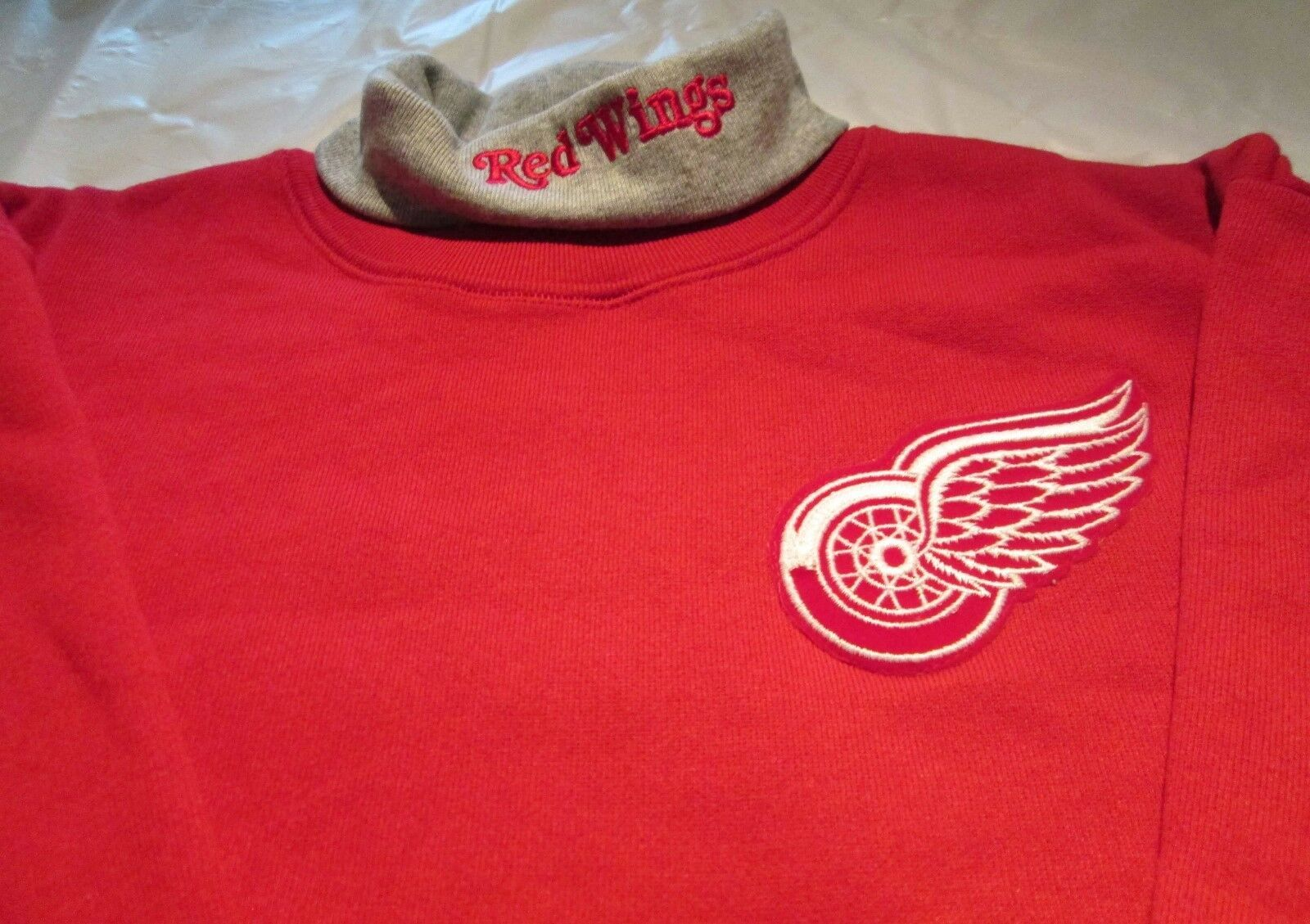 Primary image for Detroit Red Wings Youth Sweat Shirt Large Turtleneck NHL Majestic 50/50 Vintage