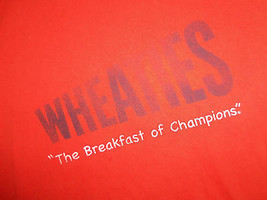"Wheaties Brand Cereal ""The Breakfast Of Champions"" Orange Graphic T Shir... - $18.45"