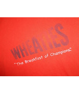 """Wheaties Brand Cereal """"The Breakfast Of Champions"""" Orange Graphic T Shirt - M - $18.45"""