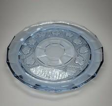 "Anchor Hocking Avalon Pattern Blue Serving Platter Platter 11.25""  - $24.99"