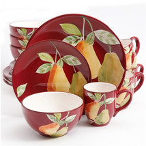 Gibsone Home Fruitful Pears 16pc Dinnerware Set - $72.41