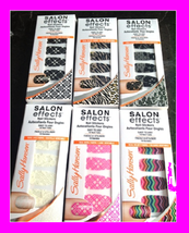 Sale Sally Hansen Salon Effects Nail Stickers 18 Wraps Strip Color Design Polish - $4.72